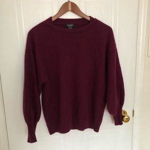 Lord and Taylor cashmere sweater size L Maroon